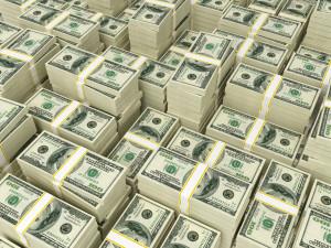 Money Pile 00 dollar bills
